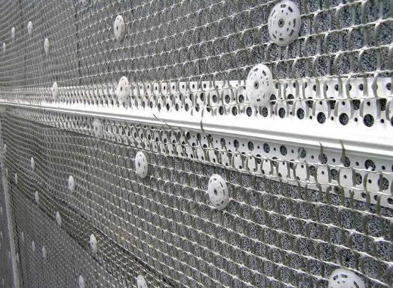 Штукатурка фасада по сетке технология: монтаж, крепление, отделка