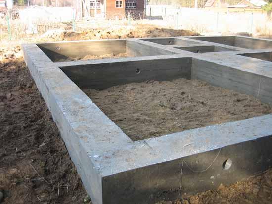 Конструкции фундаментов дома: виды, материалы, правила заливки