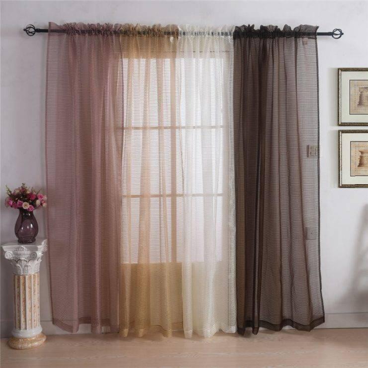 Выбор тюля в спальню: материал и дизайн