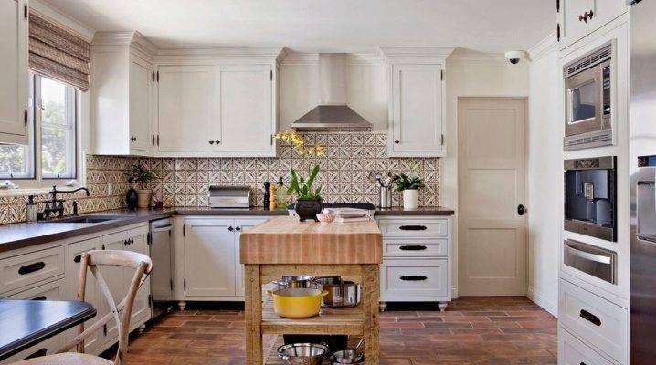Чем отделать рабочую стену и пол на кухне вместо плитки