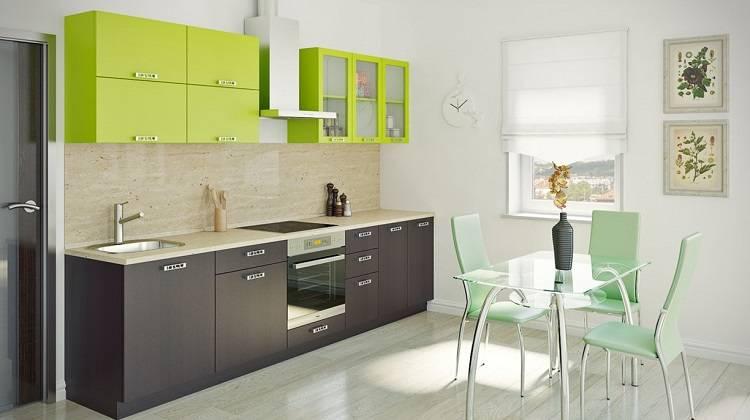 Кухня цвета лайм: сочетание с белым оттенком гарнитура или стен в интерьере