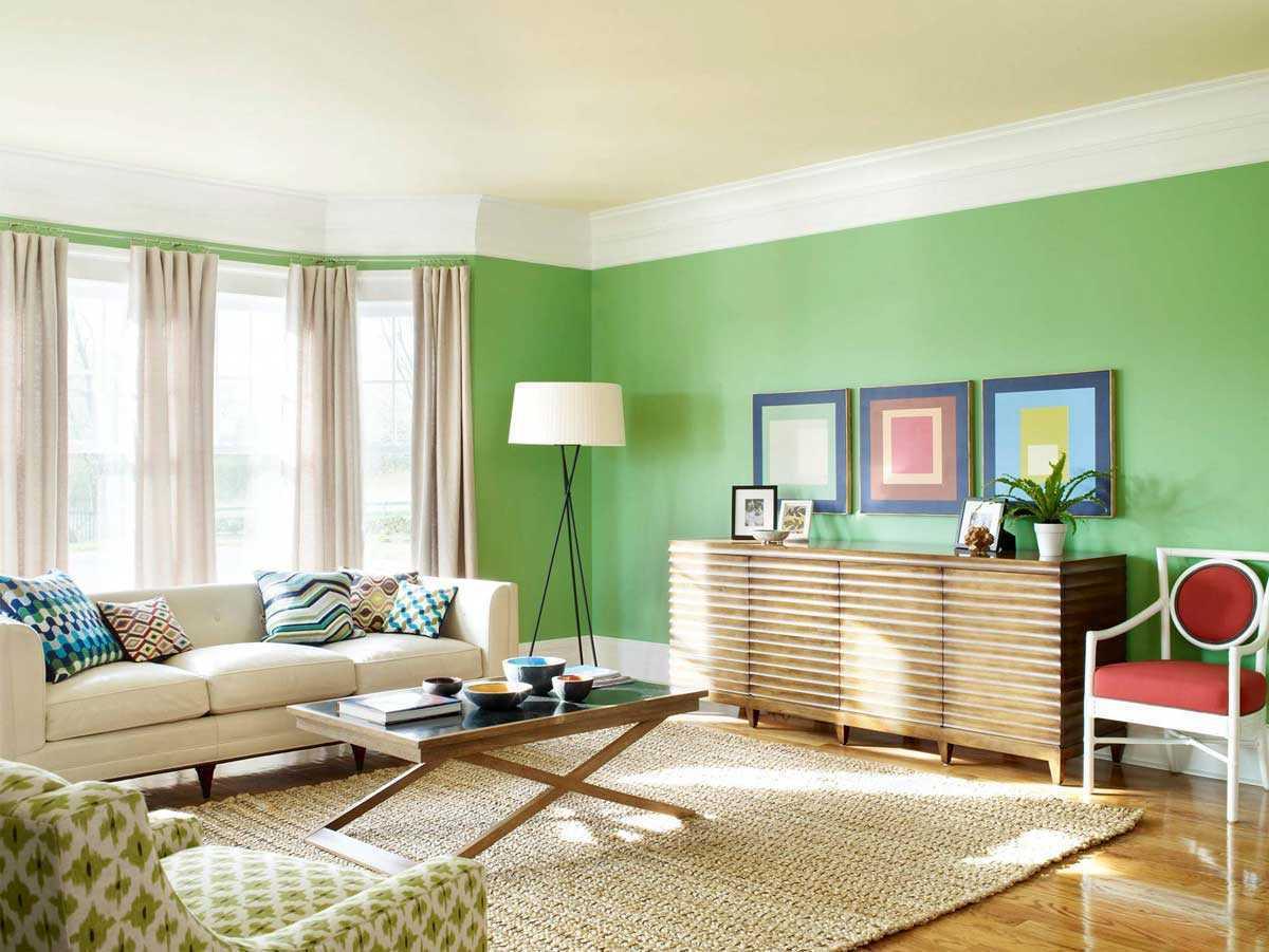 Салатовый цвет в современных модных интерьерах: 185+ Сочетаний дизайна для Кухни, Гостиной, Спальни