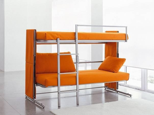 Кровать двухъярусная с диваном — удобство и оптимизация комнаты