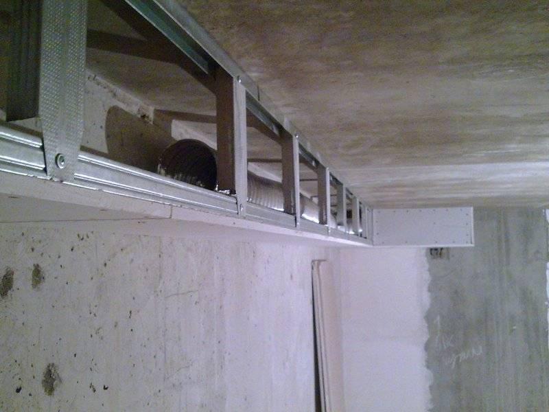Короб из гипсокартона на потолке: монтаж короба с подсветкой своими руками, высота, размеры, инструкция