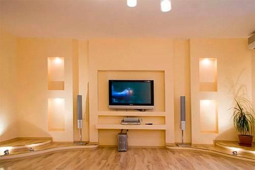 Нужна ли ниша в стене кухни или спальни из гипсокартона, и как ее можно оформить самостоятельно: варианты, инструктаж