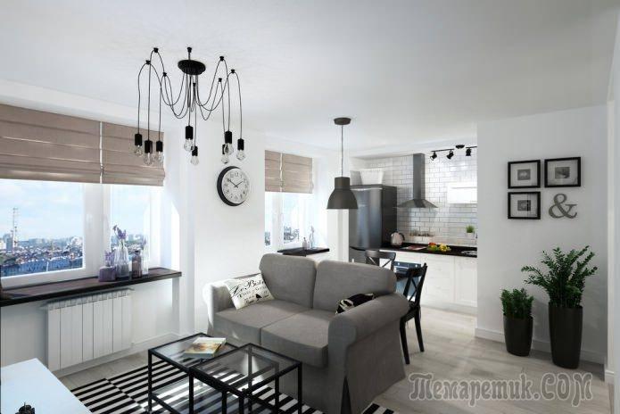 Кухня-гостиная 24 м: рабочие точки, способы зонирования, фото в интерьере
