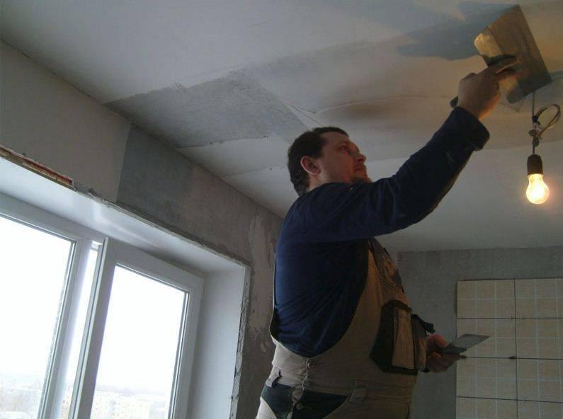 Штукатурка потолка: виды смесей и технология выравнивания