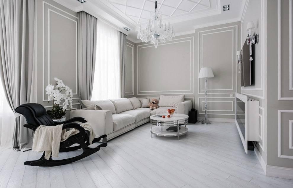 Белая гостиная: современные варианты оформления интерьера, цветовые сочетания и фото готовых решений