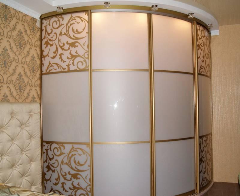 Радиусный шкаф купе (108 фото): угловой полукруглый, радиальный и вогнутый внутри, наполнение и размеры