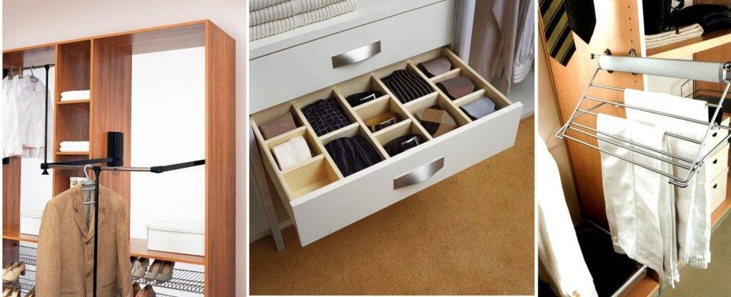 Варианты внутреннего наполнения шкафов-купе: фото, особенности, критерии выбора