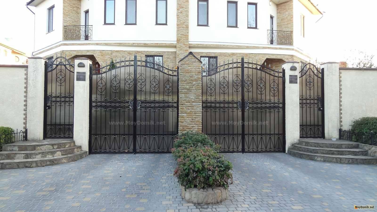 Распашные ворота - 110 фото советов как сделать ворота. схемы устройства и порядок установки