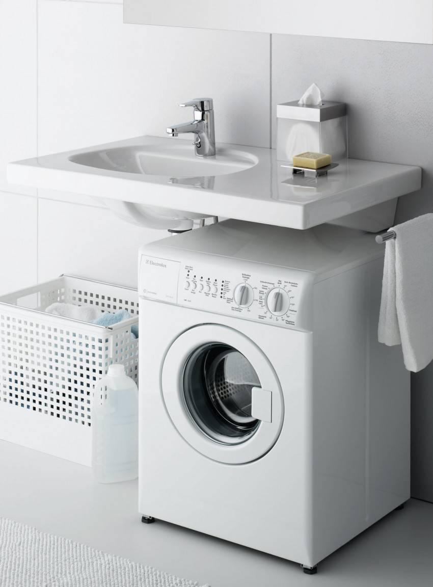 Дизайн ванной со стиральной машиной: способы размещения