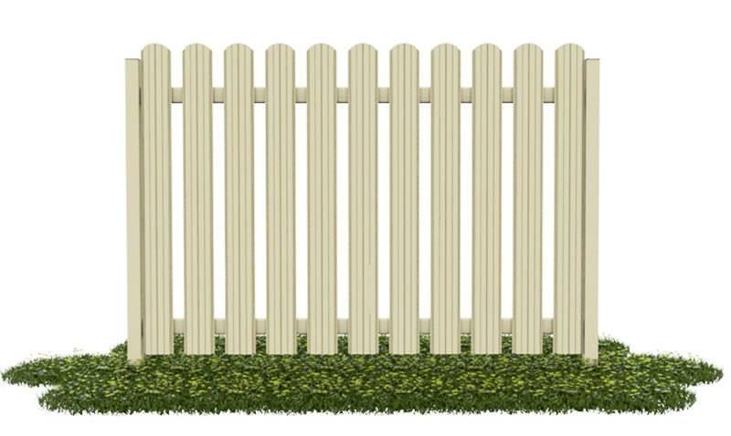 Как построить забор из металлического штакетника