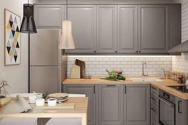Кухня под потолок: идеи интерьера с высокими шкафами в стиле классика, модерн, хай-тек