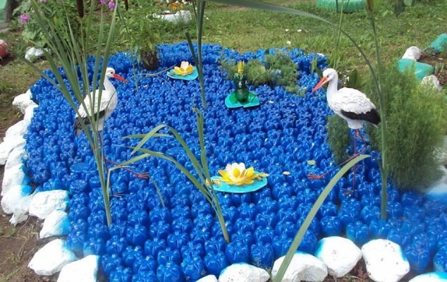 Поделки из бутылок для сада: пошаговая инструкция своими руками, идеи фигурок