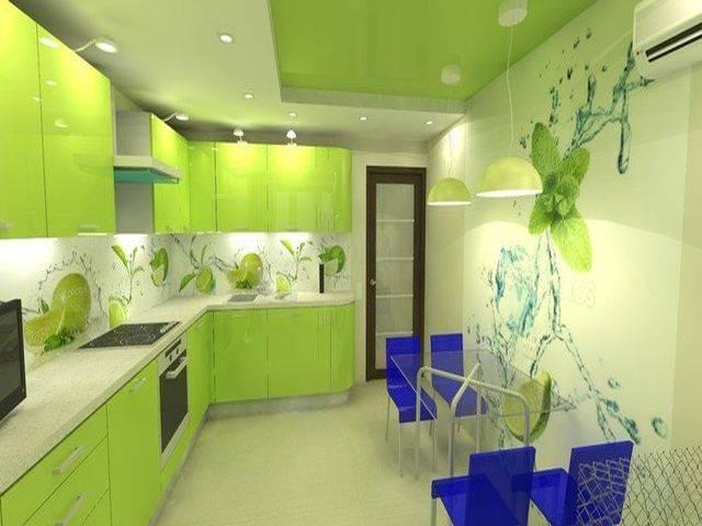 Дизайн кухонь в цвете лайм, с какими цветами сочетается