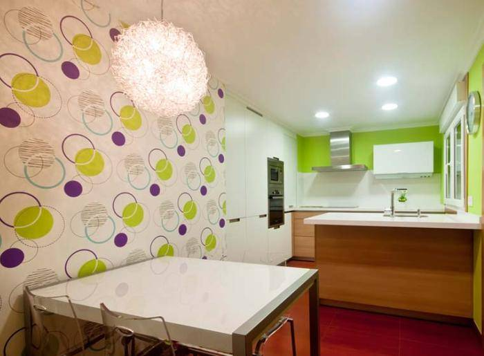 Моющиеся обои для кухни на стены - виниловые, флизелиновые и другие, чем их мыть?