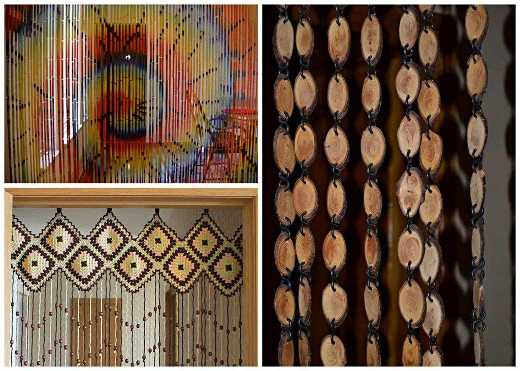 Декоративные шторы на дверной проем своими руками