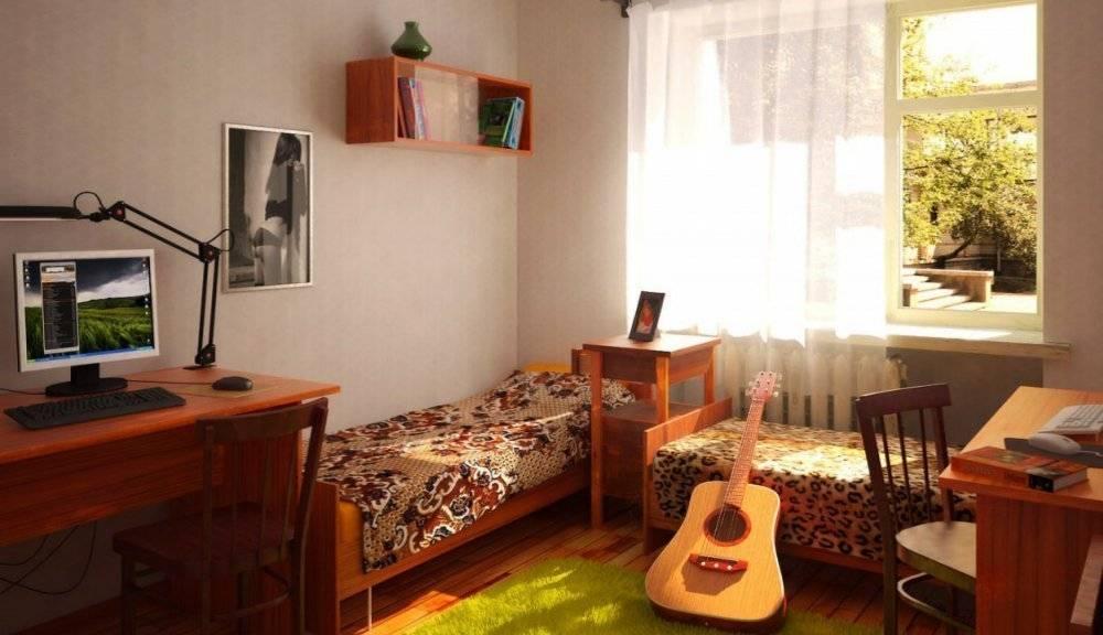 Дизайн комнаты в общежитии +75 фото идей интерьера