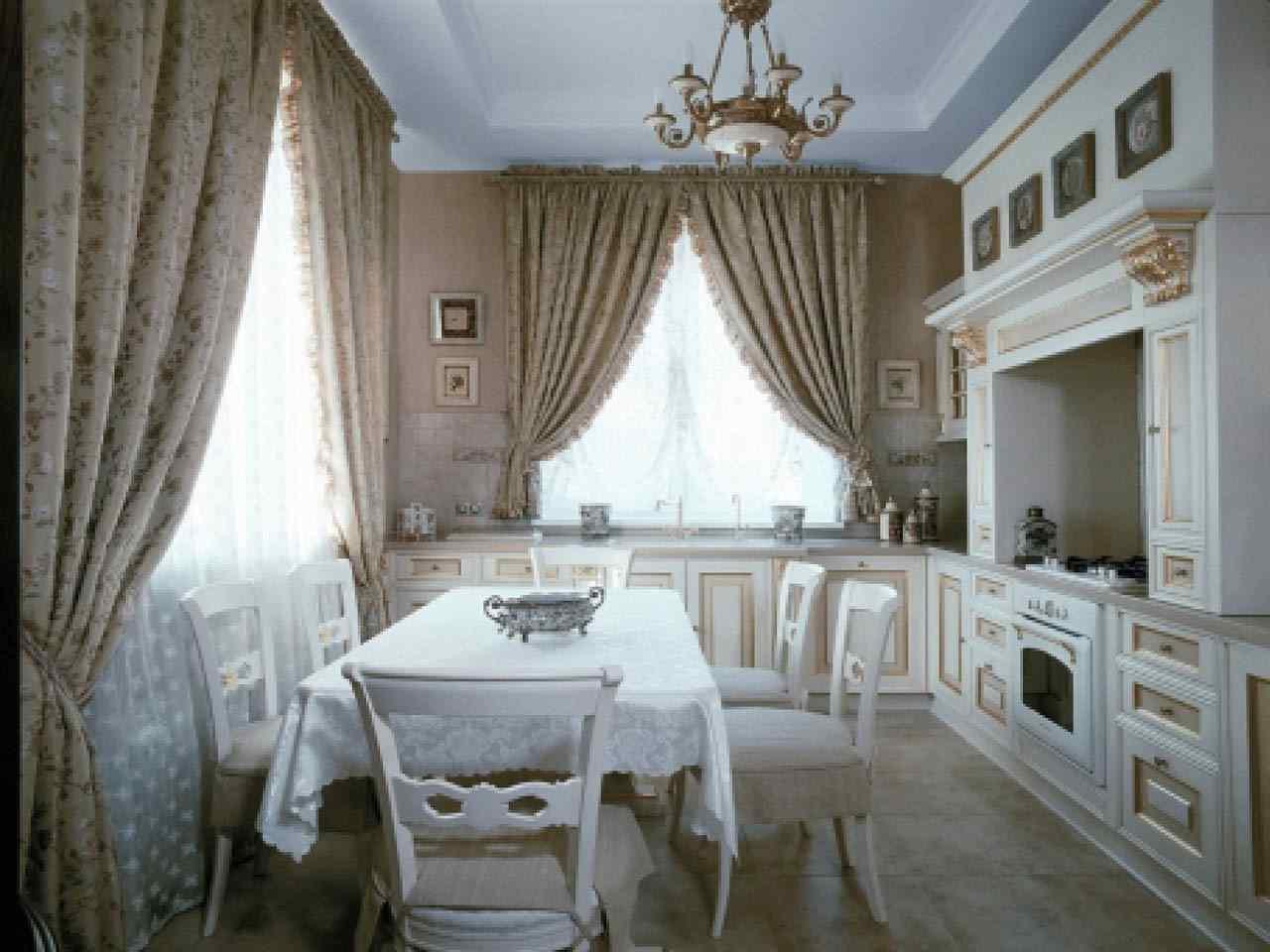 Гид по выбору современных штор на кухню
