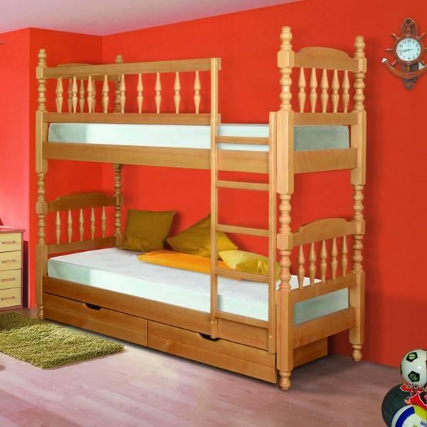 Двухъярусная кровать: какие бывают размеры, как подобрать