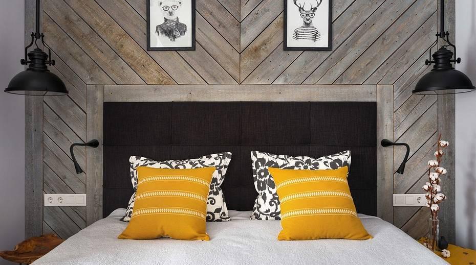 Особенности дизайна прямоугольной спальни 16 кв. м.