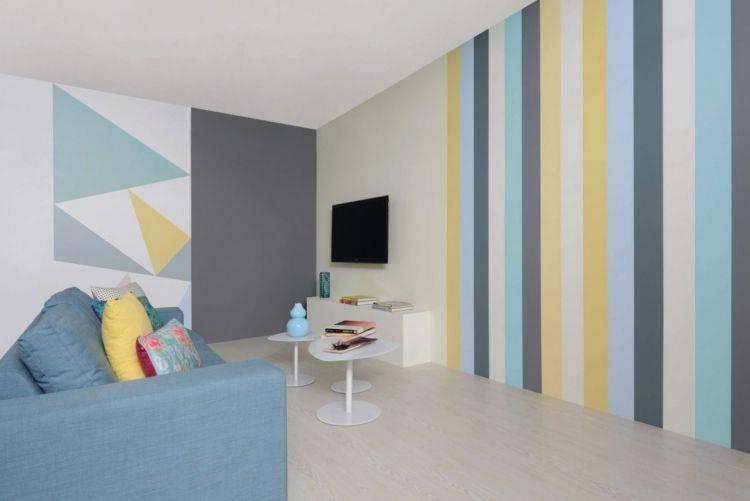Покраска стен в квартире, преимущества - фото примеров