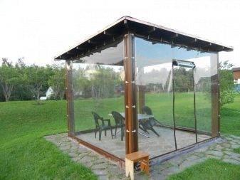 Мягкие окна из пвх для беседок и террас: пластиковые шторы для веранды, как установить гибкое защитное стекло своими руками