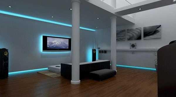 Натяжной потолок с подсветкой: 80+ фото, дизайн с светодиодной лентой, дюралайт и др.