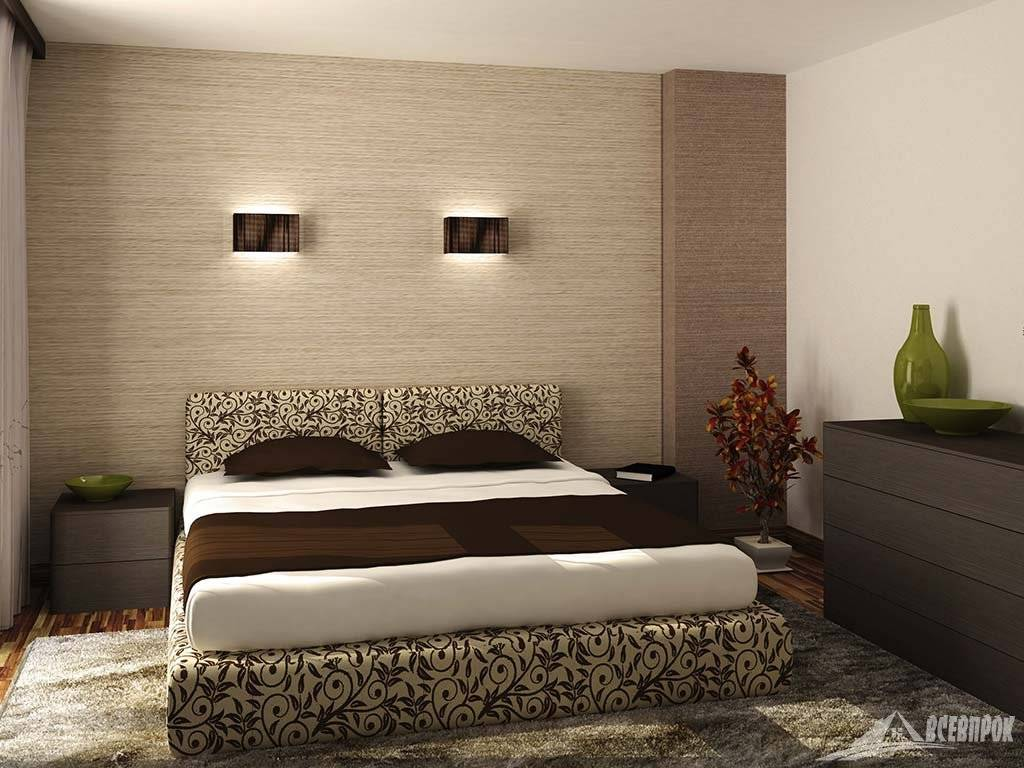 Правила выбора обоев для маленькой спальни: 50+ современных фото в интерьере