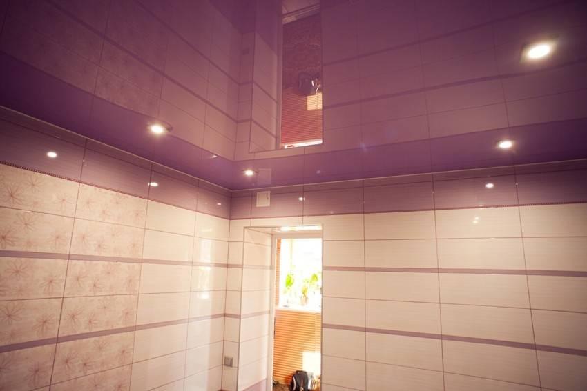 Зеркальный потолок в ванной комнате своими руками - фото и монтаж