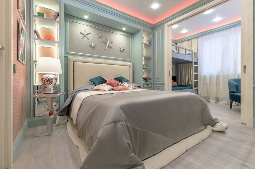 Детская и гостиная в одной комнате — 50 фото интерьеров