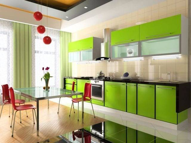 Красивые тона кухни, самый практичный цвет для кухонного гарнитура
