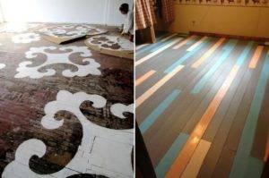 Крашеный пол: покраска деревянного пола, как красиво и правильно покрасить, цвет половой доски в доме, каким валиком красить, шпаклевка для пола из дерева, фото и видео