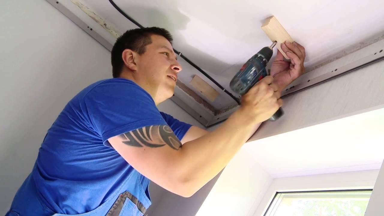 Комбинированные потолки: гипсокартон и натяжной (12 фото)