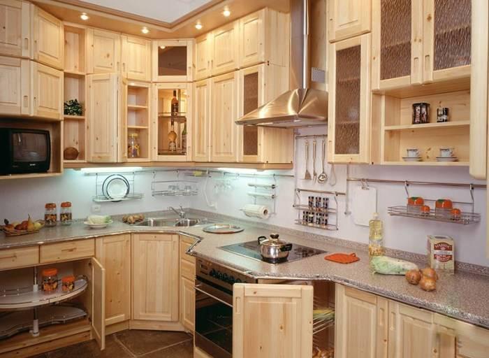 Кухни из массива дерева: 135 фото-идей современного дизайна и декора