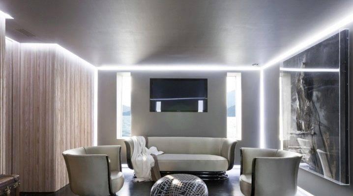 Потолок с подсветкой по периметру своими руками - всё о ремонте потолка