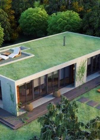Дома с плоской крышей — лучшие проекты, современные материалы и идеи по озеленению (110 фото и видео)