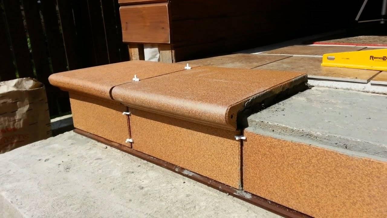 Клинкерная плитка для ступеней крыльца на улице: укладка, клей