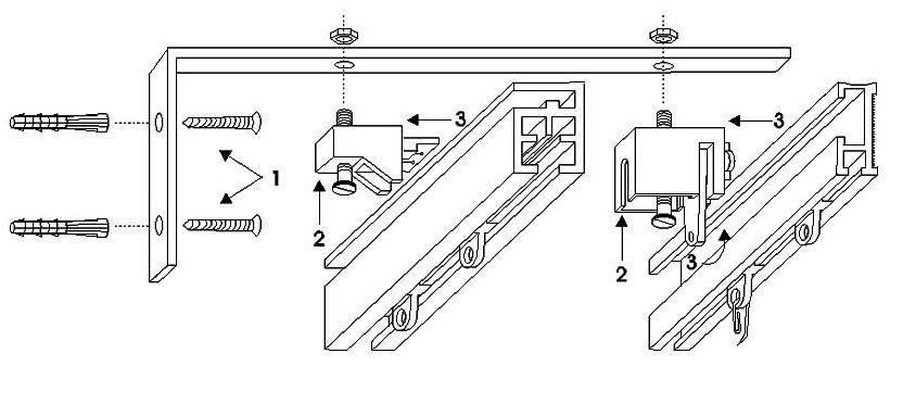 Типы и способы крепления кронштейна для карниза - блог о строительстве