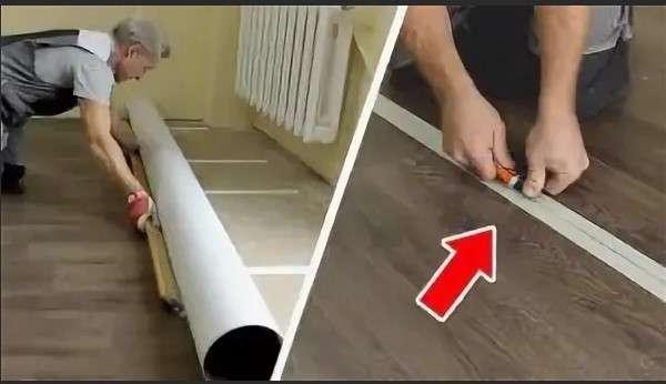Как стелить линолеум на деревянный пол: подготовка материала и технология монтажа