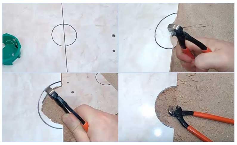 Как просверлить кафельную плитку, чтобы не треснула, каким сверлом сверлить дырку