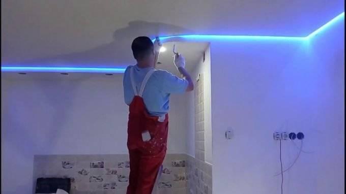 30 вариантов подсветки натяжного потолка светодиодной лентой изнутри