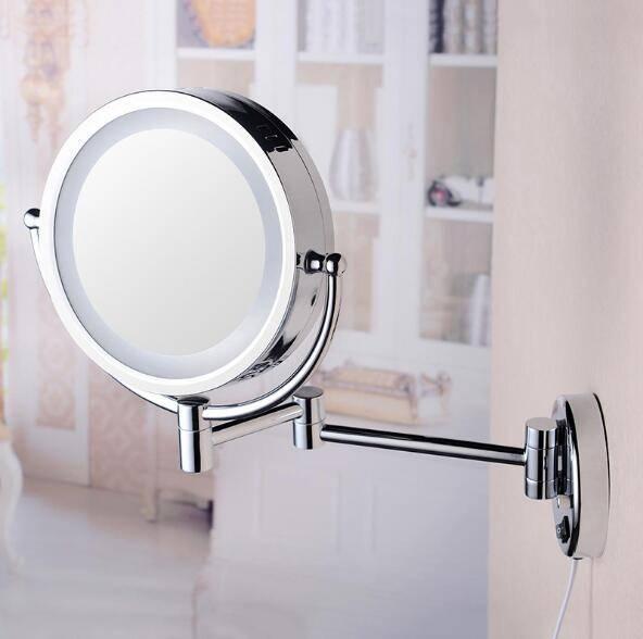 Настольное зеркало с подсветкой: косметическое зеркальце для макияжа с увеличением, увеличительные модели, большие увеличивающие изделия