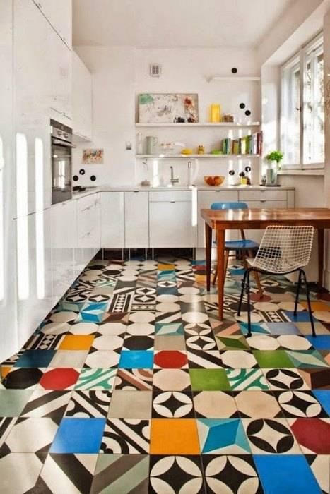 Плитка пэчворк в интерьере кухни и ванной – дизайн и 50 фото