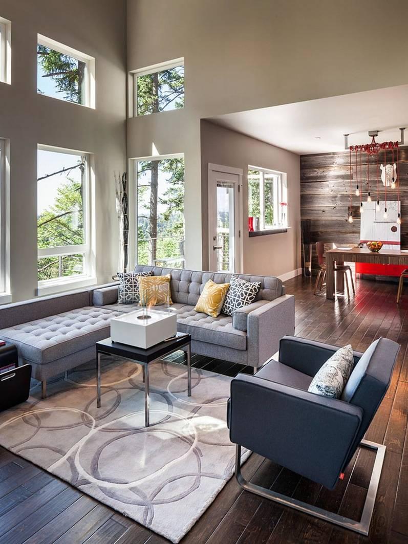 Как оформить дизайн гостиной 18 кв м? (48 фото-идеи)