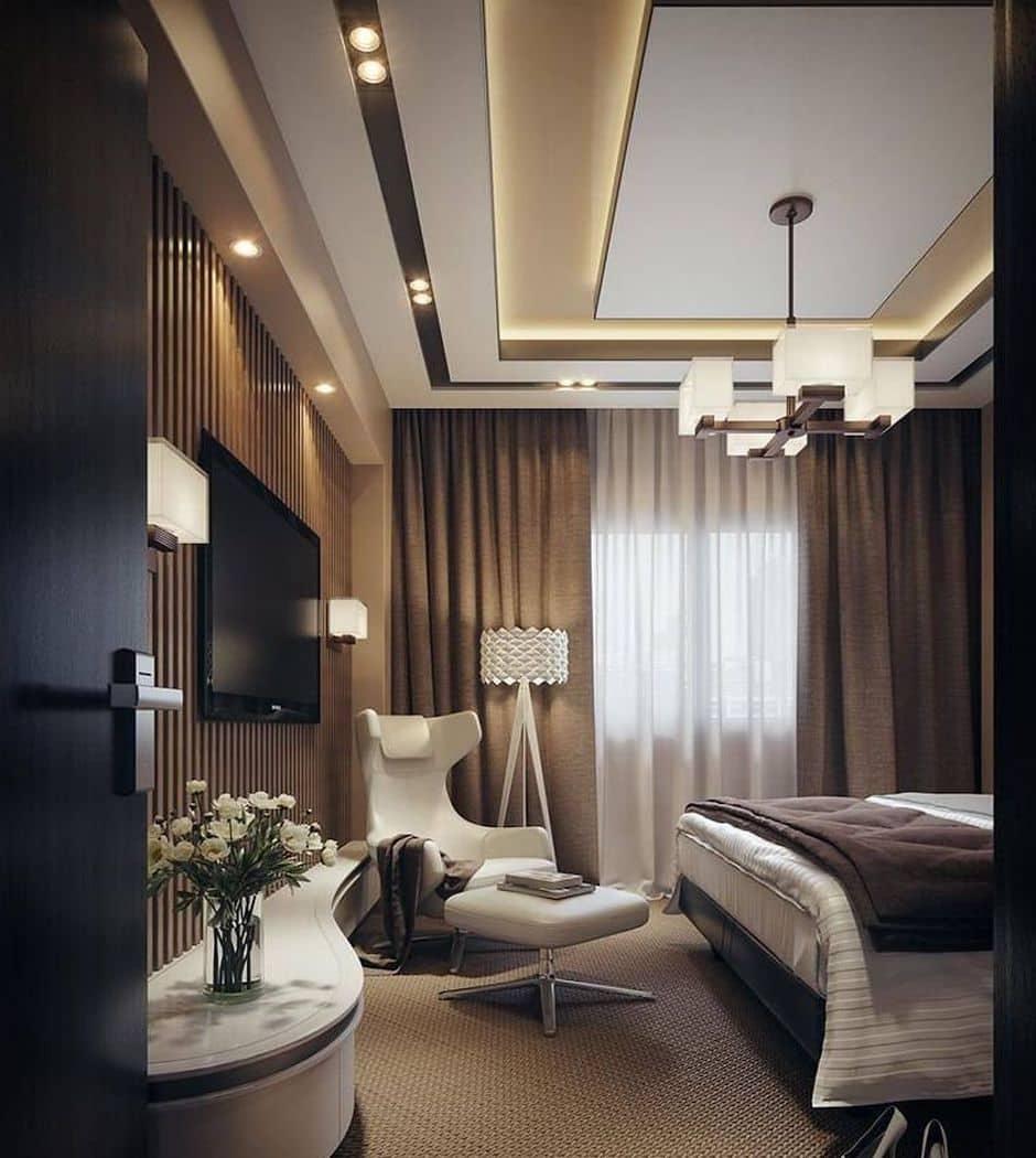 Дизайн потолка в спальне - лучшие идеи и варианты оформления!