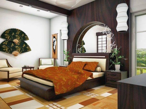 Азиатский стиль в декоре спальни