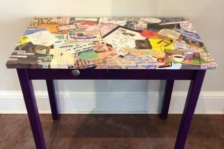 Декупаж письменного стола своими руками с помощью журналов, газет и прочих ненужных вещей
