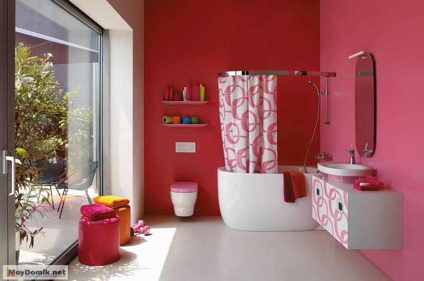 Жидкие обои в ванной и туалете: новшество в оформлении санузла